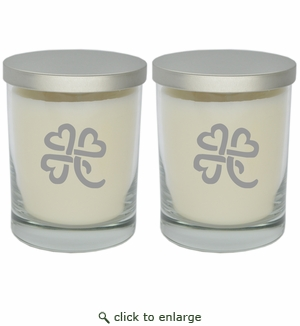 ECO-LUXURY SOY CANDLE SET OF 2: Heart Clover