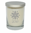 ECO-LUXURY SOY CANDLE:SNOWFLAKE w/ YEAR