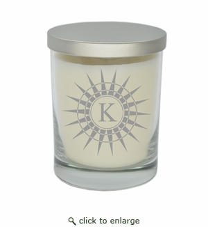ECO-LUXURY SOY CANDLE : Sunburst Initial