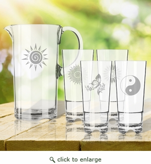 Entertaining Set: Unbreakable pitcher and four highball glasses : Solstice