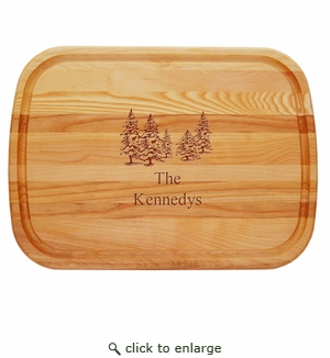 "EVERYDAY BOARD: 21"" x 15"" LARGE PERSONALIZED PINE TREES"