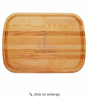 """EVERYDAY BOARD: 21"""" x 15"""" LARGE PERSONALIZED SAILBOAT"""