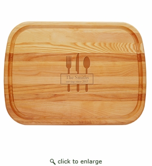 """EVERYDAY BOARD: 21"""" x 15"""" LARGE PERSONALIZED- Serving Since"""
