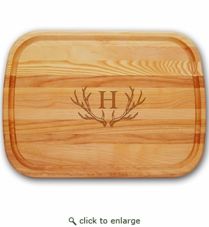 EVERYDAY BOARD: LARGE PERSONALIZED ANTLER MOTIF