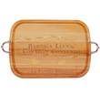 "EVERYDAY COLLECTION: 21"" x 15"" LARGE SERVING TRAY WITH NOUVEAU HANDLES PERSONALIZED BARRIGA LLENA"
