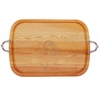 "EVERYDAY COLLECTION: 21"" x 15"" LARGE SERVING TRAY WITH NOUVEAU HANDLES PERSONALIZED CORNUCOPIA"