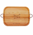 EVERYDAY COLLECTION: LARGE SERVING TRAY WITH NOUVEAU HANDLES PERSONALIZED JOYEUX NOEL