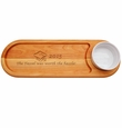 """EVERYDAY COLLECTION: 21""""x 7"""" DIP AND SERVE BOARD: TASSEL WORTH THE HASSLE"""