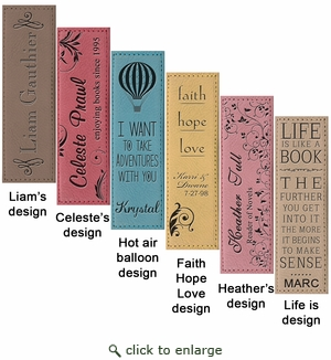 FAUX LEATHER BOOKMARK : ASSORTED COLORS