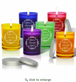 Gem Collection Candles : Eco-Luxury Décor - HOME IS WHERE YOUR MOM IS