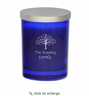 GEM COLLECTION SAPPHIRE CANDLE: Tree of Life with Celtic Name
