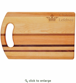 "INTEGRITY COLLECTION:14"" x 9"" BREAD BOARD PERSONALIZED CROWN"