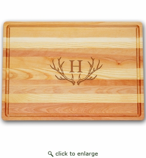 LARGE MASTER COLLECTION BOARD PERSONALIZED ANTLER MOTIF