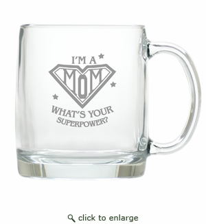 LARGE MUG (GLASS) : SUPER MOM