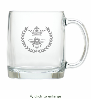 LARGE MUG (GLASS) : QUEEN BEE
