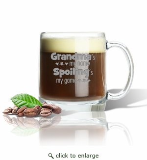 LARGE MUG (GLASS) : GRANDMA'S MY NAME
