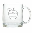 LARGE MUG (GLASS):  KEEP CALM AND TEACH ON