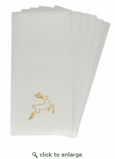 LINEN-LIKE DISPOSABLE GUEST TOWELS : 50 Count GOLD DEER