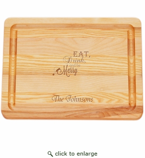 """MASTER COLLECTION: 10"""" x 7.5"""" SMALL BOARD EAT, DRINK, BE MERRY PERSONALIZED"""
