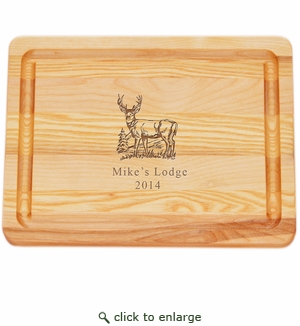 """MASTER COLLECTION: 10"""" x 7.5"""" SMALL BOARD PERSONALIZED BUCK"""