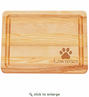 """MASTER COLLECTION: 10"""" x 7.5"""" SMALL BOARD PERSONALIZED PAW PRNT"""