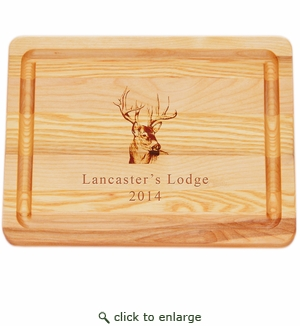 """MASTER COLLECTION: 10"""" x 7.5"""" SMALL BOARD PERSONALIZED TROPHY BUCK"""