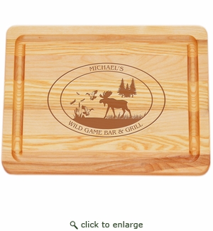 "MASTER COLLECTION: 10"" x 7.5"" SMALL BOARD PERSONALIZED WILDGAME"