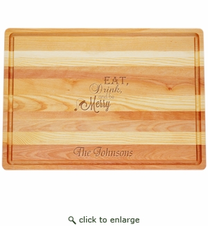 """MASTER COLLECTION: 20"""" x 14.5"""" LARGE BOARD EAT, DRINK, AND BE MERRY PERSONALIZED"""