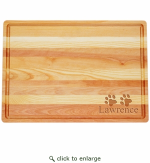 """MASTER COLLECTION: 20"""" x 14.5"""" LARGE BOARD PERSONALIZED PAWS"""