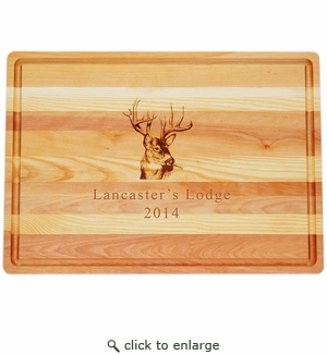 "MASTER COLLECTION: 20"" x 14.5"" LARGE BOARD PERSONALIZED TROPHY BUCK"