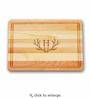 MEDIUM  MASTER COLLECTION BOARD PERSONALIZED ANTLER MOTIF
