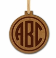 MODERN CIRCLE PERSONALIZED WOODEN ORNAMENT