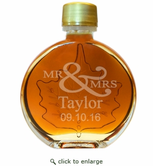 Mr & Mrs Certified Organic Vermont Maple Syrup Medallion Glass (100 ml) Case of 24 ($5.95/each bottle)