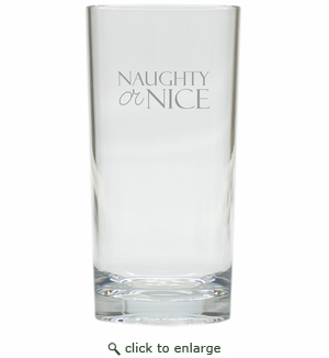 NAUGHTY OR NICE COOLER: SET OF 6 (Glass)