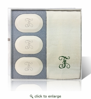 ECO-LUXURY ORIGINAL GIFT SET (3 Bars 1 Towel): INITIAL