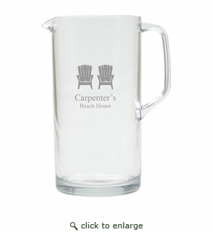 PERSONALIZED ADIRONDACK CHAIR PITCHER  (Unbreakable)