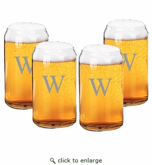 PERSONALIZED BEER CAN GLASSES GIFT SET