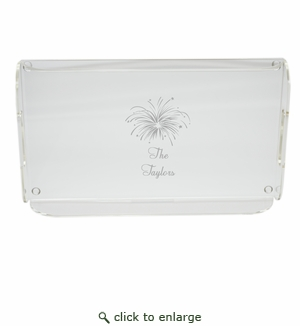 PERSONALIZED FIREWORKS SERVING TRAY WITH HANDLES