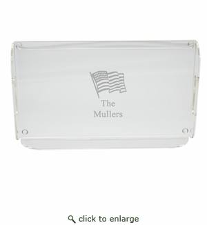 PERSONALIZED FLAG SERVING TRAY WITH HANDLES