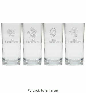 PERSONALIZED HIGHBALL: SET OF 4 LEAVES (Unbreakable)