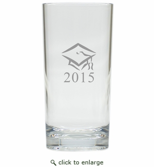 PERSONALIZED HIGHBALL SET OF 4 (Unbreakable): GRADUATION CAP with DATE