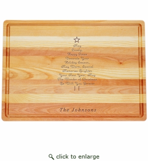 """MASTER COLLECTION: 20"""" x 14.5"""" LARGE BOARD PERSONALIZED INSPIRATIONAL CHRISTMAS TREE"""