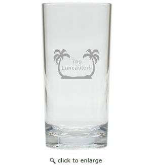 PERSONALIZED PALM TREES HIGHBALL: SET OF 4 (Unbreakable)