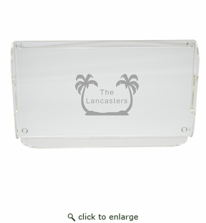 PERSONALIZED PALM TREES SERVING TRAY WITH HANDLES