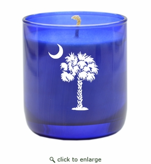 PERSONALIZED PALMETTO MOON BLUE COLLECTION CANDLE