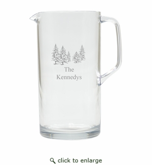 PERSONALIZED PINE TREES PITCHER  (Unbreakable)