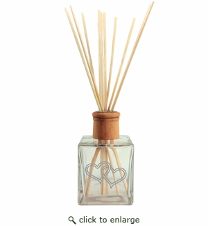 Personalized Reed Diffuser Double Heart