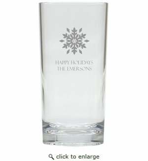 PERSONALIZED SNOWFLAKE COOLER: SET OF 6 (Glass)