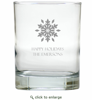 PERSONALIZED SNOWFLAKE OLD FASHIONED - SET OF 6 GLASS