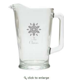 PERSONALIZED SNOWFLAKE PITCHER  (GLASS)